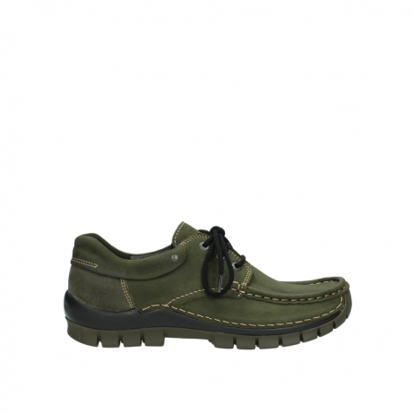 wolky chaussures a lacets 04726 fly winter 50730 cuir vert