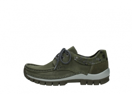 wolky chaussures a lacets 04726 fly winter 50730 cuir vert_1