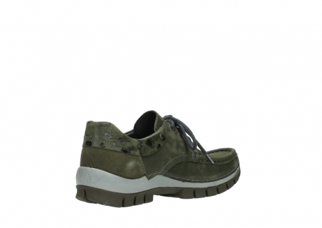 wolky chaussures a lacets 04726 fly winter 50730 cuir vert_10