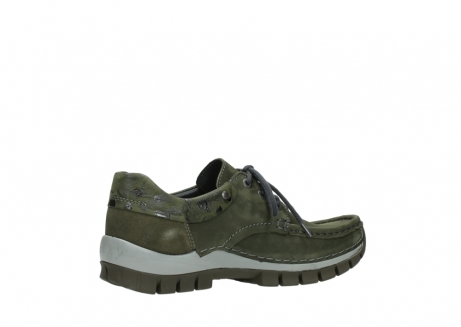 wolky chaussures a lacets 04726 fly winter 50730 cuir vert_11