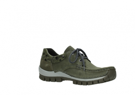 wolky chaussures a lacets 04726 fly winter 50730 cuir vert_15