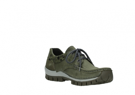 wolky chaussures a lacets 04726 fly winter 50730 cuir vert_16