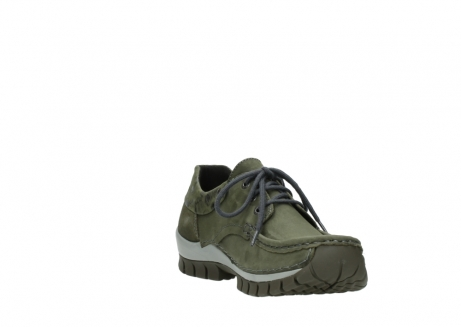 wolky chaussures a lacets 04726 fly winter 50730 cuir vert_17