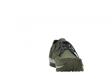 wolky chaussures a lacets 04726 fly winter 50730 cuir vert_18