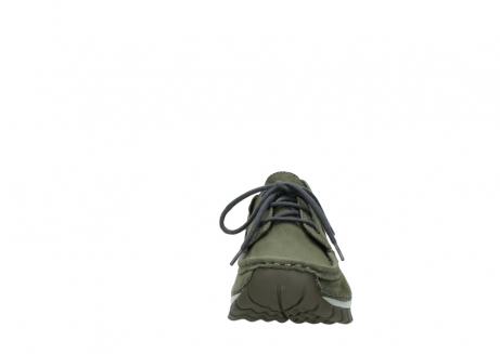 wolky chaussures a lacets 04726 fly winter 50730 cuir vert_19