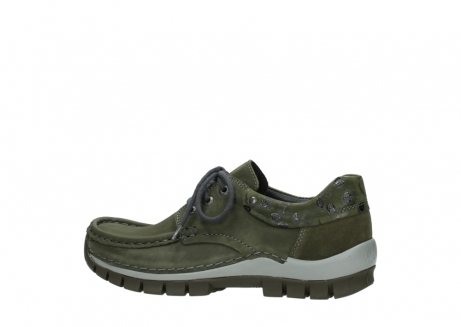 wolky chaussures a lacets 04726 fly winter 50730 cuir vert_2