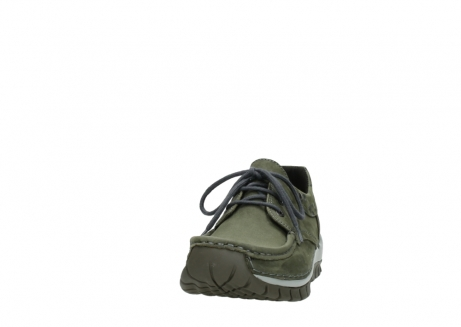 wolky chaussures a lacets 04726 fly winter 50730 cuir vert_20