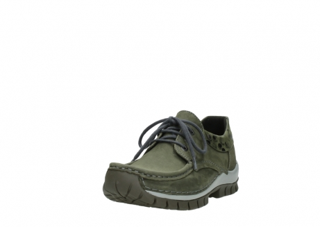 wolky chaussures a lacets 04726 fly winter 50730 cuir vert_21