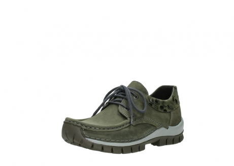 wolky chaussures a lacets 04726 fly winter 50730 cuir vert_22