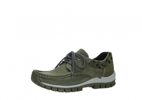 wolky chaussures a lacets 04726 fly winter 50730 cuir vert_23