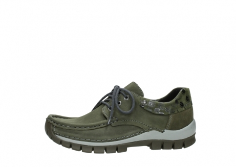 wolky chaussures a lacets 04726 fly winter 50730 cuir vert_24