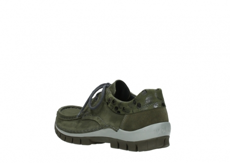 wolky chaussures a lacets 04726 fly winter 50730 cuir vert_4