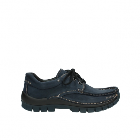wolky veterschoenen 04726 fly winter 50800 donkerblauw geolied leer