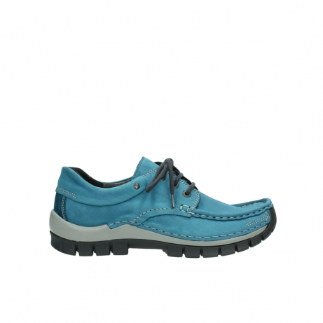 wolky lace up shoes 04726 fly winter 50880 petrol blue oiled leather