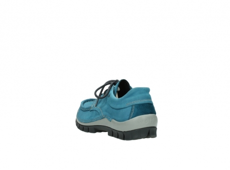 wolky lace up shoes 04726 fly winter 50880 petrol blue oiled leather_5