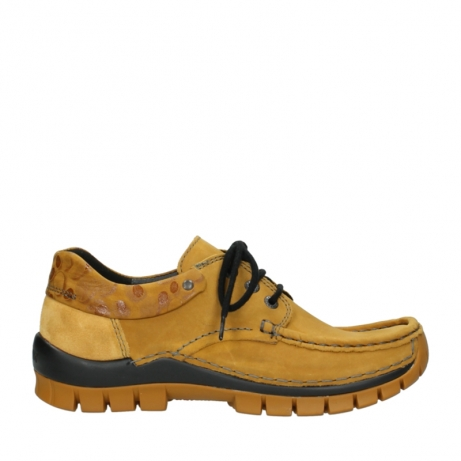 wolky chaussures a lacets 04726 fly winter 59930 cuir jaune curry