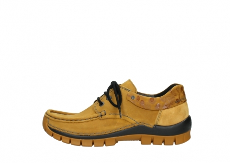 wolky chaussures a lacets 04726 fly winter 59930 cuir jaune curry_1