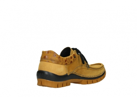 wolky chaussures a lacets 04726 fly winter 59930 cuir jaune curry_10