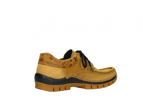 wolky chaussures a lacets 04726 fly winter 59930 cuir jaune curry_11