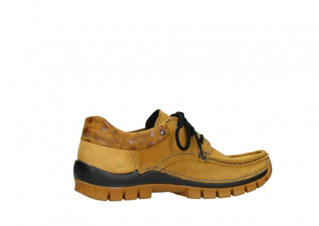 wolky chaussures a lacets 04726 fly winter 59930 cuir jaune curry_12