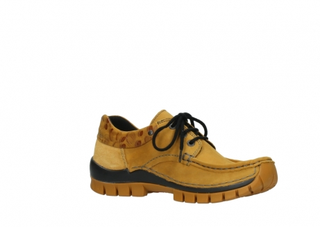 wolky chaussures a lacets 04726 fly winter 59930 cuir jaune curry_15