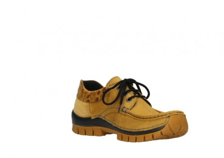 wolky chaussures a lacets 04726 fly winter 59930 cuir jaune curry_16