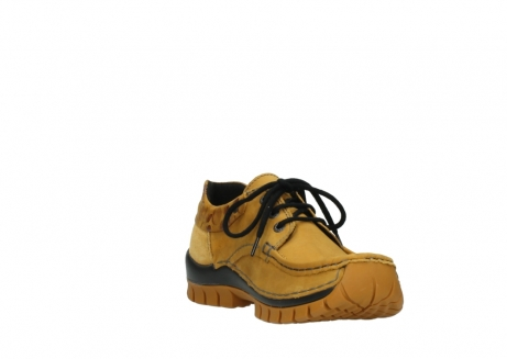 wolky chaussures a lacets 04726 fly winter 59930 cuir jaune curry_17