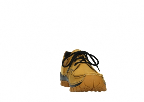 wolky chaussures a lacets 04726 fly winter 59930 cuir jaune curry_18