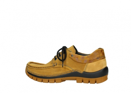 wolky chaussures a lacets 04726 fly winter 59930 cuir jaune curry_2