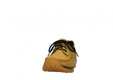 wolky chaussures a lacets 04726 fly winter 59930 cuir jaune curry_20