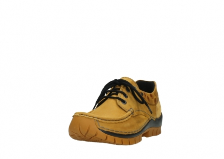 wolky chaussures a lacets 04726 fly winter 59930 cuir jaune curry_21
