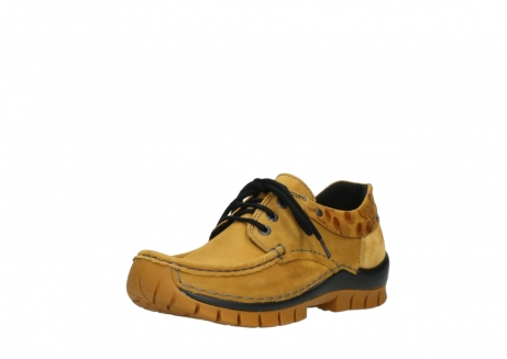 wolky chaussures a lacets 04726 fly winter 59930 cuir jaune curry_22