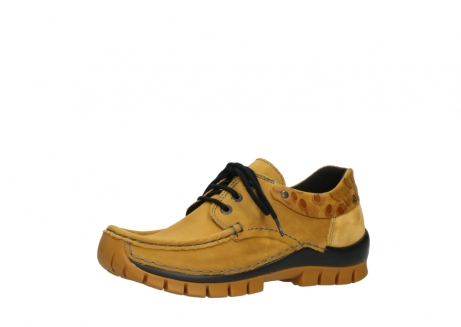 wolky chaussures a lacets 04726 fly winter 59930 cuir jaune curry_23