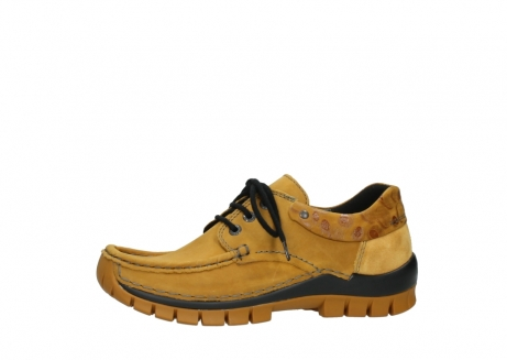 wolky chaussures a lacets 04726 fly winter 59930 cuir jaune curry_24