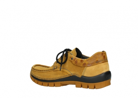 wolky chaussures a lacets 04726 fly winter 59930 cuir jaune curry_3