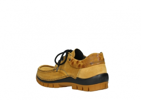 wolky chaussures a lacets 04726 fly winter 59930 cuir jaune curry_4
