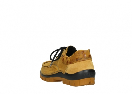 wolky chaussures a lacets 04726 fly winter 59930 cuir jaune curry_5