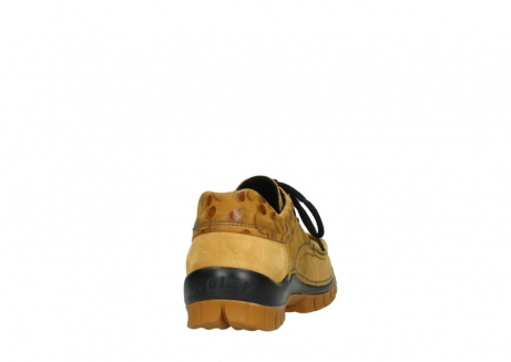 wolky chaussures a lacets 04726 fly winter 59930 cuir jaune curry_8