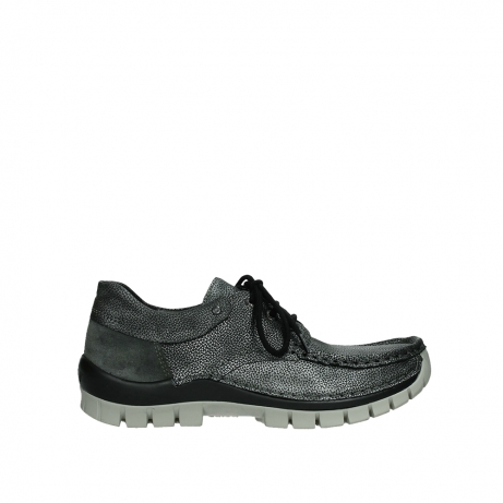 wolky veterschoenen 04726 fly winter 81280 metaalgrijs leer
