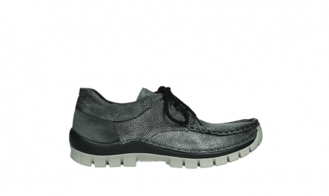 wolky chaussures a lacets 04726 fly winter 81280 cuir gris meacutetal_1
