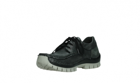 wolky chaussures a lacets 04726 fly winter 81280 cuir gris meacutetal_10
