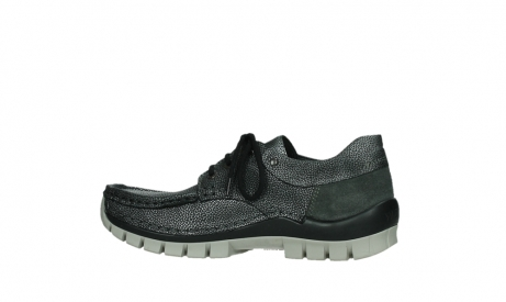 wolky chaussures a lacets 04726 fly winter 81280 cuir gris meacutetal_14