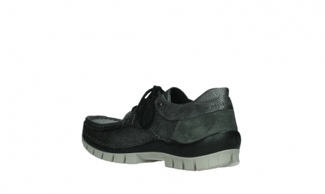 wolky chaussures a lacets 04726 fly winter 81280 cuir gris meacutetal_16