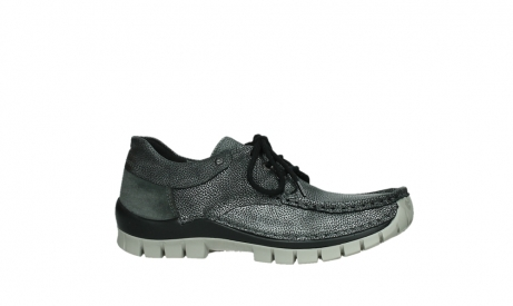 wolky chaussures a lacets 04726 fly winter 81280 cuir gris meacutetal_2