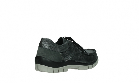 wolky chaussures a lacets 04726 fly winter 81280 cuir gris meacutetal_22