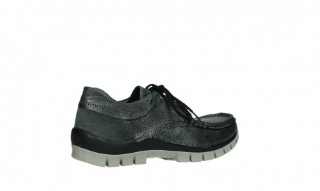 wolky chaussures a lacets 04726 fly winter 81280 cuir gris meacutetal_23