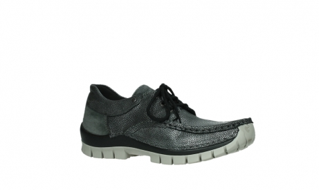 wolky chaussures a lacets 04726 fly winter 81280 cuir gris meacutetal_3