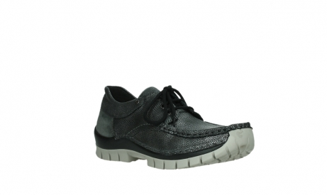 wolky chaussures a lacets 04726 fly winter 81280 cuir gris meacutetal_4