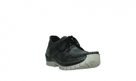 wolky chaussures a lacets 04726 fly winter 81280 cuir gris meacutetal_5