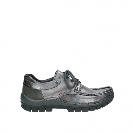 wolky lace up shoes 04726 fly winter 90210 anthracite metallic leather
